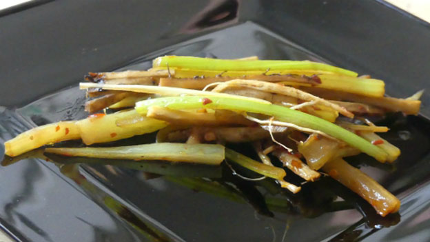 Spicy Fried Burdock and Celery