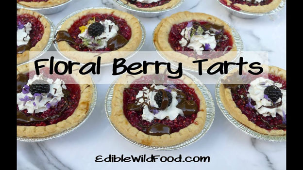 Floral Berry Tarts